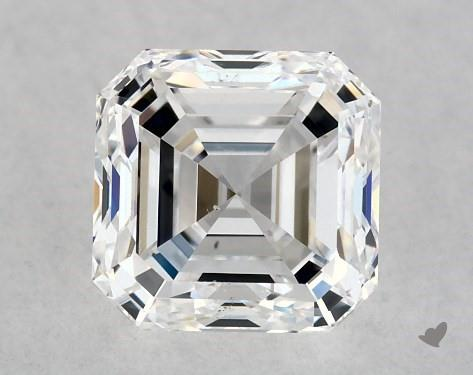 1.00 Carat D-VS2 Square Emerald Cut Diamond