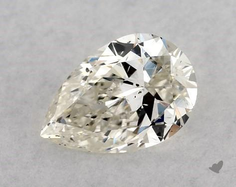 0.50 Carat J-SI2 Pear Shape Diamond