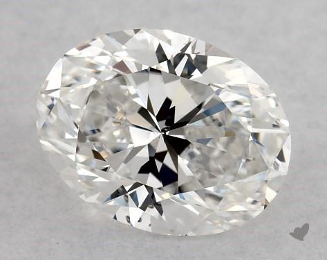 1.00 Carat F-SI1 Oval Cut Diamond