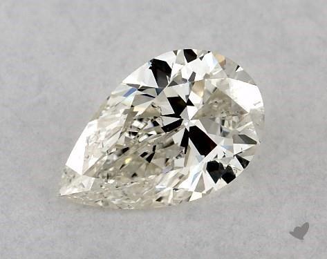 0.46 Carat J-SI2 Pear Shape Diamond