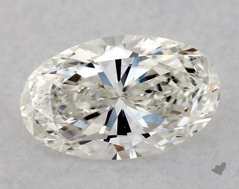 1.02 Carat H-SI1 Oval Cut Diamond