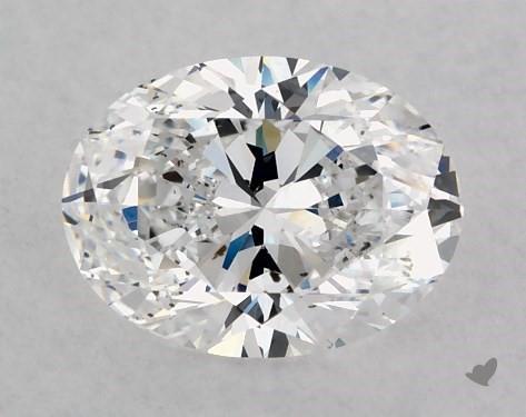 1.05 Carat D-SI1 Oval Cut Diamond
