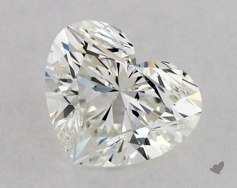 0.91 Carat H-VS2 Heart Shape Diamond