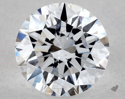 Lab-Created 1.05 Carat F-SI1 Excellent Cut Round Diamond