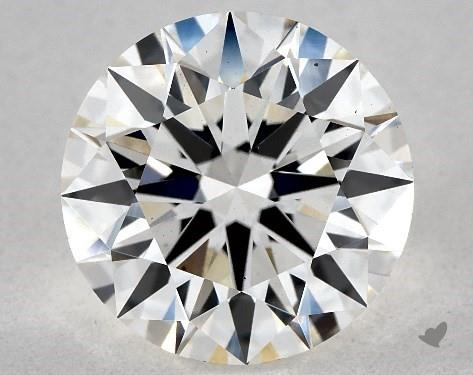 Lab-Created 2.53 Carat H-VS2 Ideal Cut Round Diamond