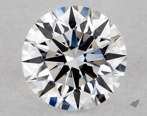 Lab-Created 0.91 Carat H-VS1 Ideal Cut Round Diamond