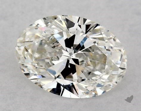 0.81 Carat H-VS2 Oval Cut Diamond
