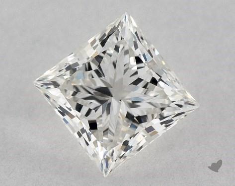0.76 Carat H-VS2 Ideal Cut Princess Diamond
