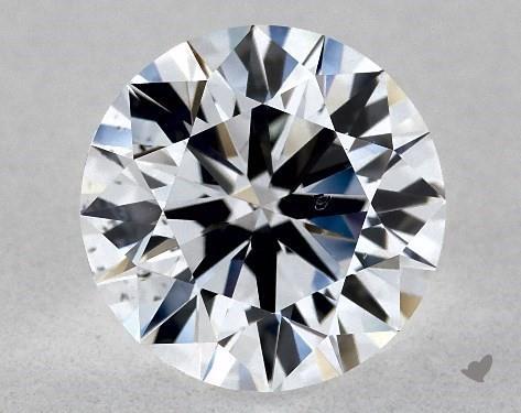 Lab-Created 1.11 Carat F-SI1 Ideal Cut Round Diamond