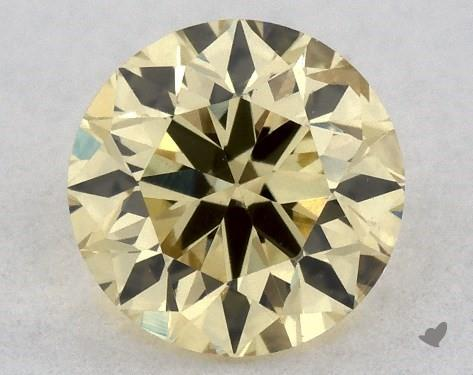 0.36 Carat FANCY  YELLOW-SI2 Round Cut Diamond