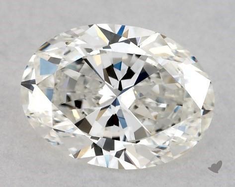 0.70 Carat H-VS2 Oval Cut Diamond