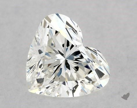 0.86 Carat H-VS2 Heart Shape Diamond