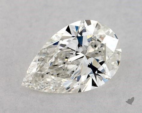 0.72 Carat H-VS2 Pear Shape Diamond