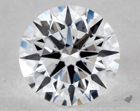 Lab-Created 1.06 Carat E-SI1 Ideal Cut Round Diamond