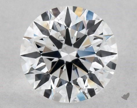Lab-Created 1.03 Carat E-SI1 Ideal Cut Round Diamond