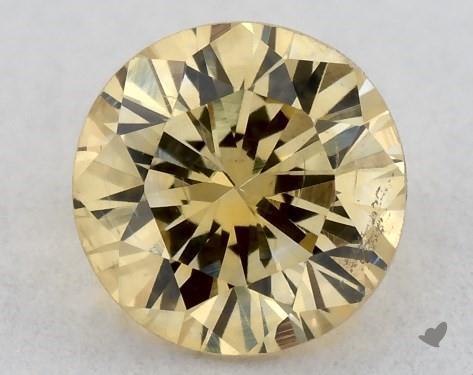 0.31 Carat FANCY INTENSE  YELLOW-SI2 Round Cut Diamond