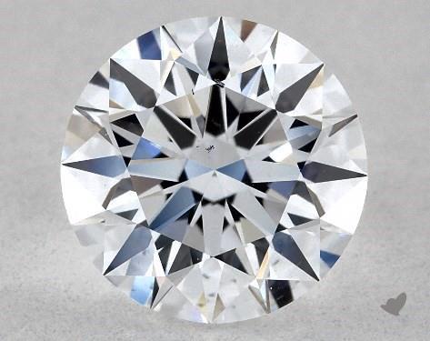 Lab-Created 1.02 Carat E-SI1 Ideal Cut Round Diamond
