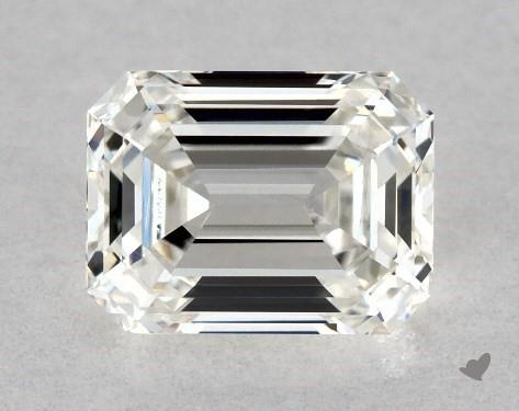 0.71 Carat H-VS1 Emerald Cut Diamond