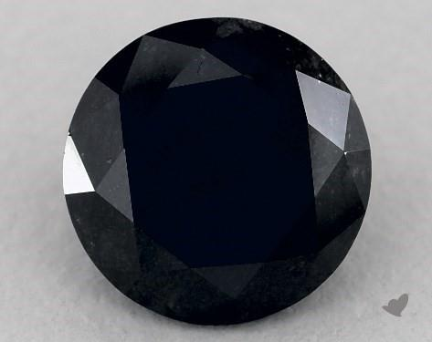 1.74 Carat FANCY  Black-VVS2 Round Cut Diamond