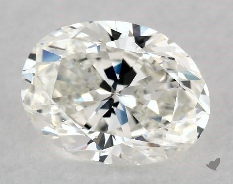 1.00 Carat F-SI1 Oval Cut Diamond