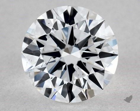 Lab-Created 1.13 Carat F-SI1 Ideal Cut Round Diamond
