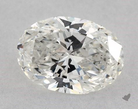 0.75 Carat H-VS2 Oval Cut Diamond