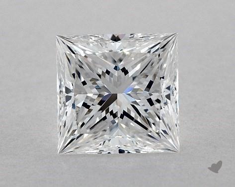 3.01 Carat E-VVS2 Ideal Cut Princess Diamond