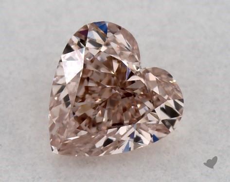0.30 Carat FANCY BROWNISH PINK-VS2 Heart Shape Diamond