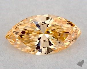 round 0.20 Carat fancy deep yellowish orange SI1