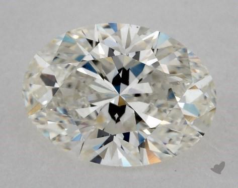 1.70 Carat H-SI1 Oval Cut Diamond