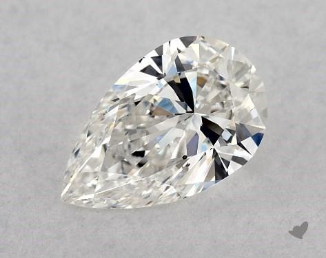 1.00 Carat F-SI1 Pear Shape Diamond