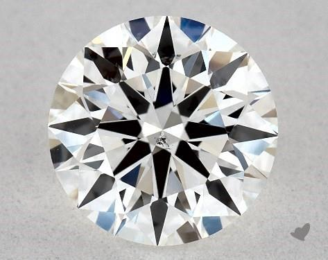 1.08 Carat H-SI1 True Hearts<sup>TM</sup> Ideal Diamond