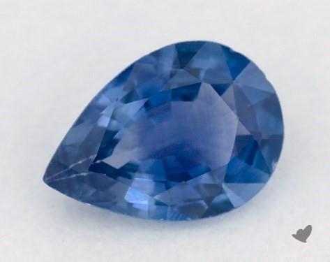 0.86 carat Pear Natural Blue Sapphire