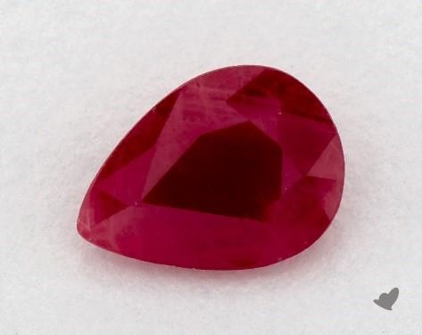 <b>0.85</b> carat Pear Natural Ruby