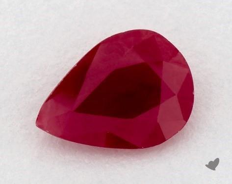 <b>0.99</b> carat Pear Natural Ruby