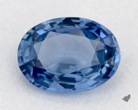 <b>0.84</b> carat Oval Natural Blue Sapphire