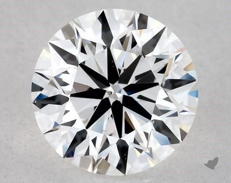 Lab-Created 1.12 Carat F-SI1 Ideal Cut Round Diamond