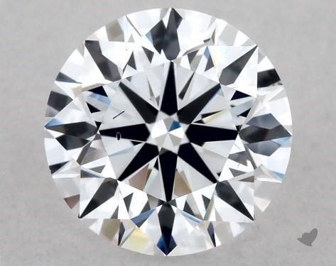 Lab-Created 1.08 Carat F-SI1 Ideal Cut Round Diamond