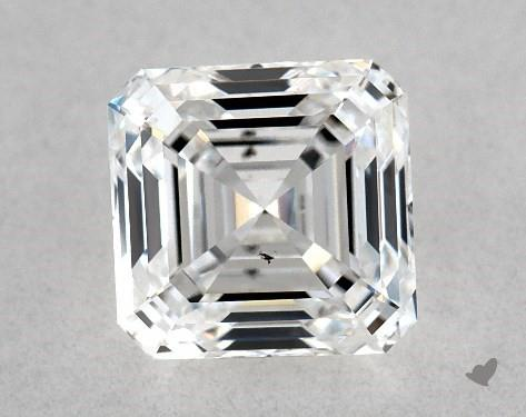 1.02 Carat F-SI1 Square Emerald Cut Diamond