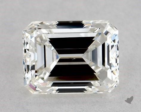1.00 Carat H-SI1 Emerald Cut Diamond