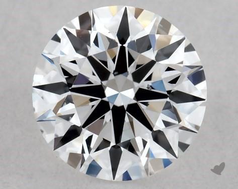 Lab-Created 0.44 Carat E-SI1 Ideal Cut Round Diamond