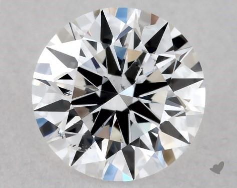 Lab-Created 0.43 Carat E-SI1 Ideal Cut Round Diamond