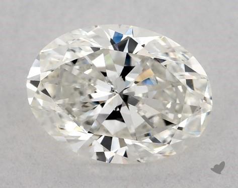 1.00 Carat G-SI1 Oval Cut Diamond