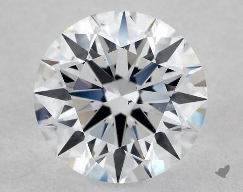 Lab-Created 1.03 Carat F-SI1 Ideal Cut Round Diamond