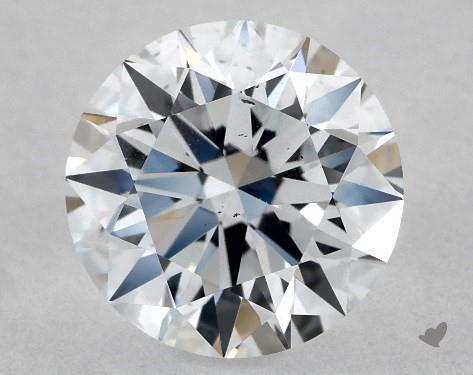 Lab-Created 1.03 Carat F-SI1 Ideal Cut Round Diamond