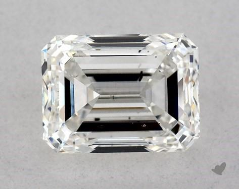 1.00 Carat H-SI1 Emerald Cut Diamond