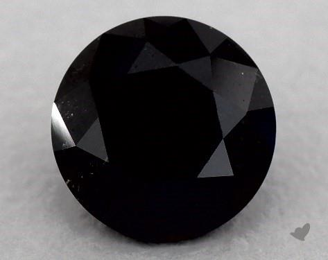 1.68 Carat FANCY  Black Round Cut Diamond