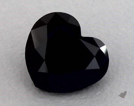 3.04 Carat FANCY  Black Heart Shape Diamond