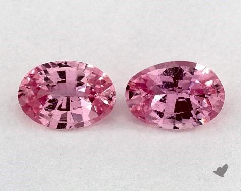 <b>0.94</b> Total Carat Weight Oval Natural Pink Sapphires