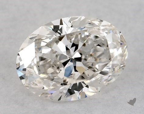 1.00 Carat H-SI1 Oval Cut Diamond